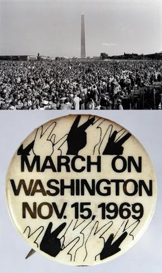 Nov. 15, 1969 | The Vietnam Moratorium Committee staged what is believed to be the largest antiwar protest in United States history when as many as half a million people attended a mostly peaceful demonstration in Washington. Smaller demonstrations were held in a number of cities and towns across the country.
