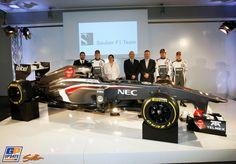 Monisha Kaltenborn, Robin Frijns, Nico Hülkenberg, Esteban Gutiérrez, Peter Sauber, Sauber, Formula 1 launch Sauber,  2 February 2013, Formula 1