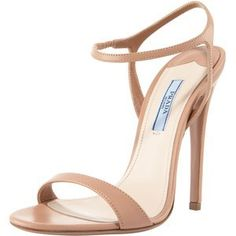 Nude Patent Leather Ankle Strap Sandals-classics!