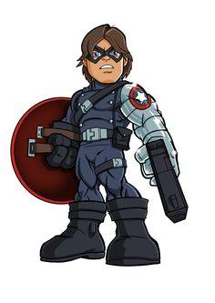 "Winter Soilder (James Buchanan ""Bucky"" Barnes) is a fictional character, a superhero in the Marvel Comics universe. Marvel Dc, Chibi Marvel, Marvel Comic Universe, Comics Universe, Marvel Comics, Chibi Superhero, Chibi Characters, Marvel Characters, Hero Squad"