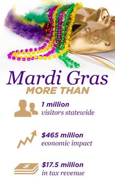 Infographic for Lousiana's John Young, with statistics about Mardi Gras. Visit our website for more examples of Harris Media's work in web and graphic design for political campaigns: www.harrismediallc.com