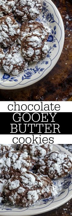 Gooey butter cake cookies with chocolate. Small batch cookie recipe that only makes 1 dozen cookies. @DessertForTwo