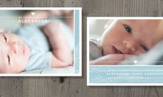 Birth Announcement Photographer Template: Minimal Splash
