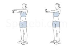 Wrist stretch exercise guide with instructions, demonstration, calories burned and muscles worked. Learn proper form, discover all health benefits and choose a workout. http://www.spotebi.com/exercise-guide/wrist-stretch/