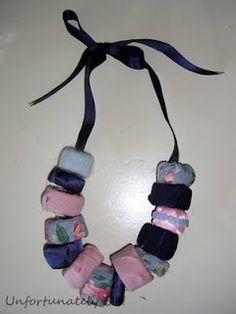 Trash & scrap fabric necklace
