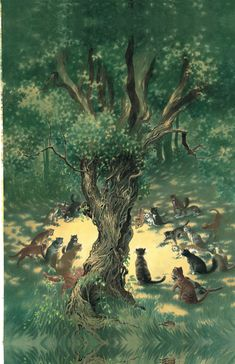 The Cats of Tanglewood Forest by Charles de Lint, illustrated by Charles Vess