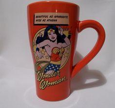 Wonder Woman Tall Mug DC Comics Coffee Cup Inspirational Saying Vandor #Vandor