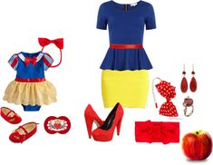 """""""snow white baby and mommy"""" by mannu-torres ❤ liked on Polyvore"""