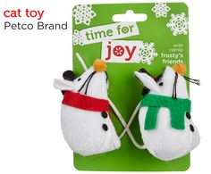 Fill your cat's stocking with these holiday themed mice toys from Petco's Holiday Gift Guide.