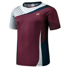 Yonex F/W Collection Men's Badminton Round T-Shirts Red Clothes NWT Within the last Sport Shirt Design, Sports Jersey Design, Sports Uniforms, Sports Shirts, Badminton T Shirts, Karate, Camisa Nike, Men In Uniform, Men's T Shirts