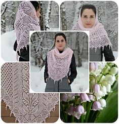 82ba334e0 Lily-of-the-Valley-Rosea pattern by Alla Borisova. Knit CowlKnitted ...