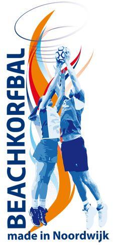Beachkorfbal Made in Noordwijk. Het logo van het Fluks Beachkorfbal.