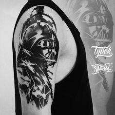 """189 tykkäystä, 7 kommenttia - Typek (@dr.typek) Instagramissa: """"Star Wars sleeve in progress #tattoo #tattoos #ink #blackwork #blacktattoo #tattooidea…"""""""