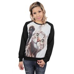 Awesome kitty sweater! Must have this cutie! <3 Find it here: http://www.cybershop.fi/product/10762/kisu-paita