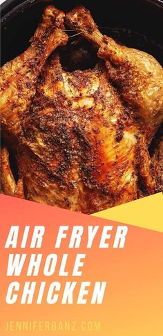 The best use of your air fryer is making this air fryer whole chicken. The meat is juicy and the skin is extra crispy...you are going to love how easy it is! Air Fryer Dinner Recipes, Air Fryer Recipes Easy, Low Carb Recipes, Cooking Recipes, Air Fried Food, Air Frier Recipes, Air Fryer Healthy, Food For Thought, Food To Make