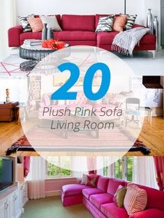 20 Attractive Black Sofa Living Room See More Pink