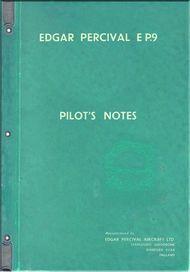 Edgar Percival  EP.9  Aircraft  Pilot's Note  Manual
