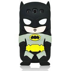 Case for G360 3D Cute Hot Sale Cartoon Animal Series Soft Silicone Case For Samsung Galaxy Core Prime G360 (Black Batman)