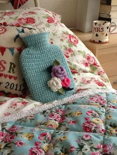 Hot water bottle cover - cute pattern - simple but cute!