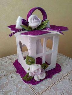 Felt lanterns - Give Details Cd Crafts, Diy Crafts For Gifts, Diy Home Crafts, Holiday Crafts, Crafts For Kids, Christmas Lanterns, Christmas Crafts, Christmas Decorations, Christmas Ornaments