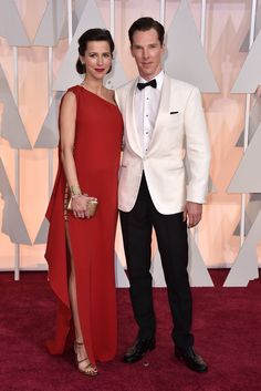 "Oscars Red Carpet Fashion 2015: Best and Worst Dressed - Business Insider - ""The Imitation Game""best actor nominee Benedict Cumberbatch with his pregnant wife, Sophie Hunter. - 2015"