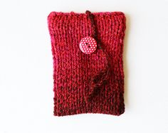 Cherry Red Phone Sock or iPod Sleeve Case  fits by StripyKite