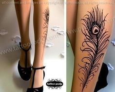 Peacock Feather stockings. Must have! don't know when I'd wear them....