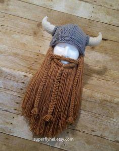 Viking Hat Helmet and Beard Midievel Warrior Cosplayers Costume Beanie Photo Props Football Fa Viking Beard, Viking Helmet, Viking Warrior, Viking Cosplay, Viking Costume, Silver Hats, Beard Hat, Accessoires Photo, Fantasias Halloween