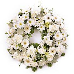 White Remembrance Wreath