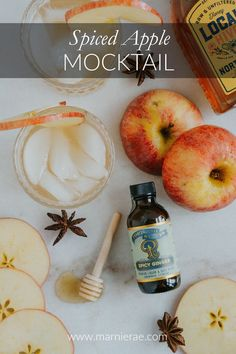 This Spiced Apple Mocktail recipe is great for the fall apple season. Made with four ingredients, this simple fall drink is a great addition to your fall party menu. Best Mocktail Recipe, Easy Mocktail Recipes, Cocktail Recipes, Coffee Recipes, Apple Recipes, Fall Recipes, Brunch Drinks, Party Food And Drinks, Apple Cider Drink