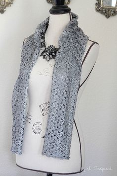 Skip to My Lou-Easy Lace Scarf:  1/3 yard of lace fabric and simple sewing