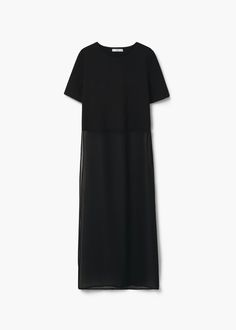 Flowy long blouse | MANGO