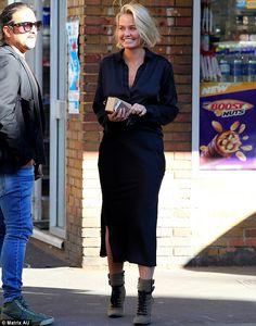 Lara Bingle - Out in Sydney, Australia.  (July 2014)