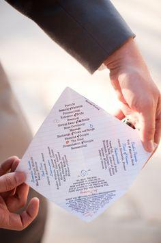 Long Beach School-Themed Wedding (wedding program)