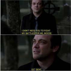 Supernatural 6:4 Weekend at Bobby's. Crowley at his best.