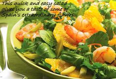 "Spanish Shrimp, Orange, and Olive Salad from the book ""Simply Salads"""
