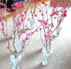 These would neat lining the aisle! Origami Wedding, Diy Wedding, Dream Wedding, Wedding Ideas, Quinceanera Planning, Party Centerpieces, Wedding Decorations, Ideas, Paper Flowers