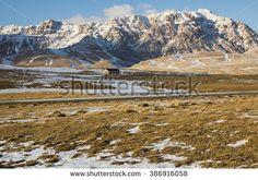 Plateau of Campo Imperatore - Gran Sasso, Abruzzo, Italy. #Abruzzo #CampoImperatore #GranSasso #Snow #Winter #Italy #Travel #Tourism #Mountains #Landscape #Trekking