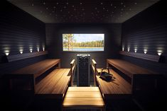 The Harvia Luminous fibre optic lights provide stylish lighting solutions for both saunas and steam rooms. The flexible fibre optics can be used to add a beautiful starry sky or various kinds of graphics to the ceiling or walls of your sauna. Home Spa Room, Spa Rooms, Sauna Steam Room, Sauna Room, Jacuzzi, Sauna Lights, Building A Sauna, Sauna House, Dry Sauna