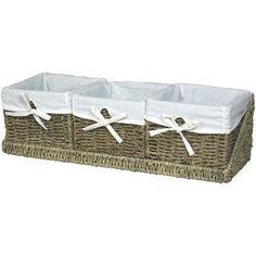 Seagrass Shelf Basket with Tray