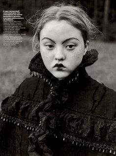 Devon Aoki for Vogue Russia October 1998 - The Wood Tale by Juergen Teller