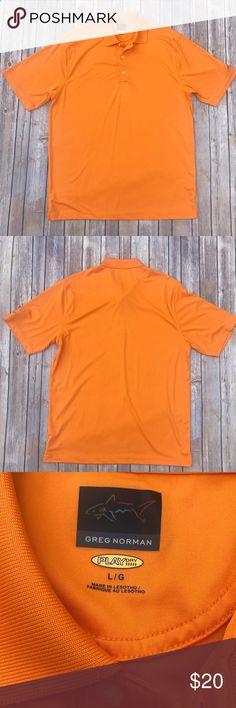 Golf Shirts - Greg Norman Play Dry Golf Shirt. Size L Greg Norman Play Dry Orange Golf Shirt. Size L Greg Norman Shirts Polos