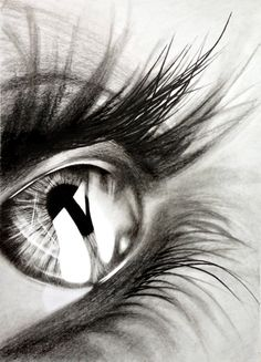 limited print Pencil drawing of an eye by DominicMcAlwaneArt, £55.00