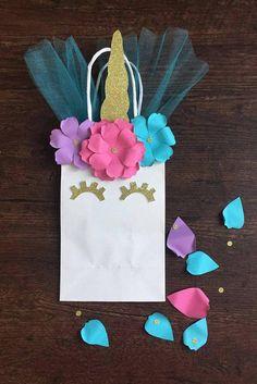 Connie  unicornio Favor fiesta de cumpleaños bolsas juego de