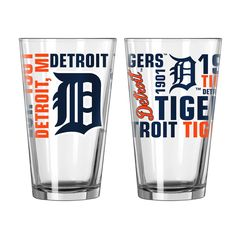 Boelter 16oz Spirit Pint Glass Detroit Tigers