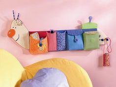 Kids Room Decorations, Cheap and Beautiful Baby Room and Toddler Bedroom Decor - Room Design Diy Crafts Videos, Diy Crafts For Kids, Craft Ideas, Nursery Room, Baby Room, Creation Couture, Sewing Art, Craft Storage, Decorative Storage