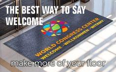 For the best way to say Welcome, choose printed floor mats by Kleen-Tex...  https://www.kleen-tex.co.uk/products/  #kleentex #makemoreofyourfloor #welcome