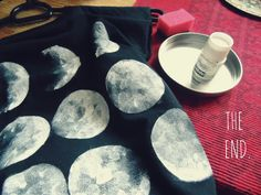 How to make your own DIY moon phases shirt! Definitely going to give this a try