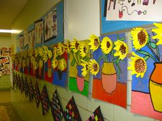Some of the Van Gogh, clay relief compositions, created by the 5th grade. We…