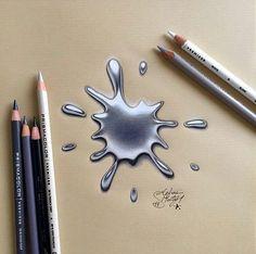 realistic 3d art drops by ms91art http://webneel.com/3d-drawings-pencil-art   Design Inspiration http://webneel.com   Follow us www.pinterest.com/webneel